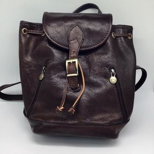 Italian Leather Backpack Tote Florence Italy
